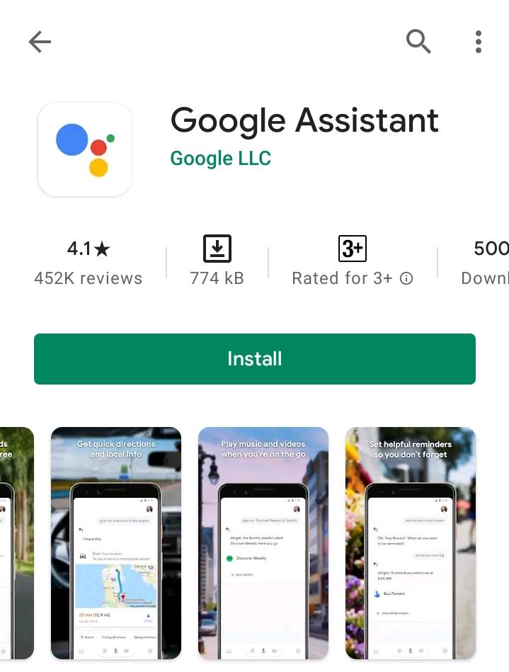 Google Assistant Download Process
