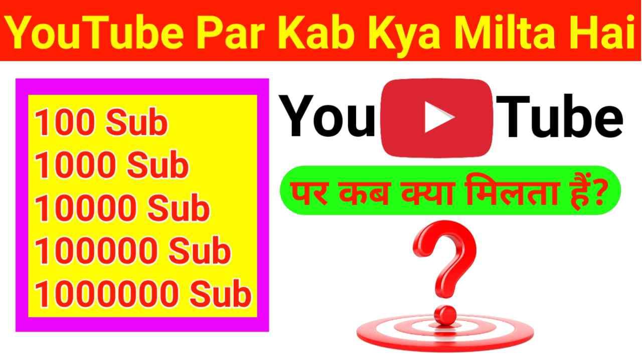 यूट्यूब पर कब क्या मिलते हैं? | YouTube Par Kab Kya Milta Hai